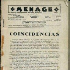 Libros antiguos: MENAGE : MARZO 1935. Lote 36409694