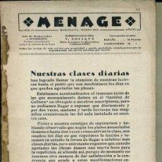 Libros antiguos: MENAGE : MARZO 1934. Lote 36409702