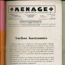 Libros antiguos: MENAGE : ENERO 1935. Lote 36409724