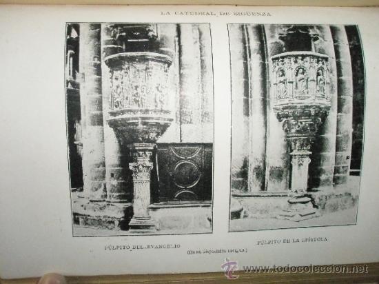 Libros antiguos: PEREZ-VILLAMIL, M.: Estudios de historia y arte. LA CATEDRAL DE SIGÜENZA erigida en el siglo XII, co - Foto 5 - 36408139