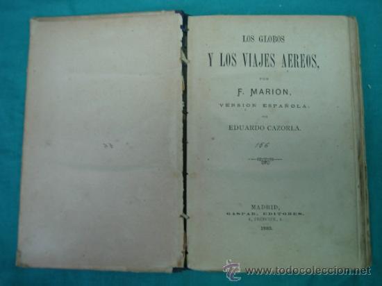 Libros antiguos: Biblioteca cientifica recreativa. 24 Los globos y los viajes aereos 1883 - Foto 2 - 36450325