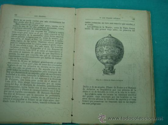 Libros antiguos: Biblioteca cientifica recreativa. 24 Los globos y los viajes aereos 1883 - Foto 3 - 36450325