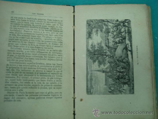 Libros antiguos: Biblioteca cientifica recreativa. 24 Los globos y los viajes aereos 1883 - Foto 4 - 36450325