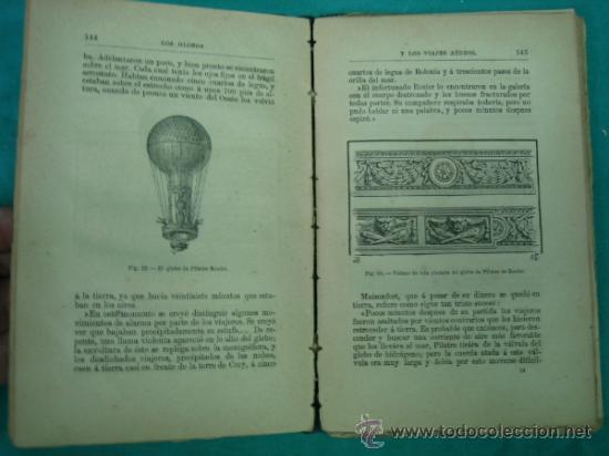 Libros antiguos: Biblioteca cientifica recreativa. 24 Los globos y los viajes aereos 1883 - Foto 5 - 36450325