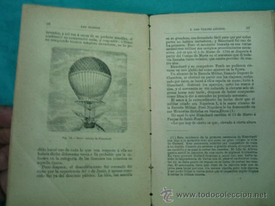 Libros antiguos: Biblioteca cientifica recreativa. 24 Los globos y los viajes aereos 1883 - Foto 6 - 36450325