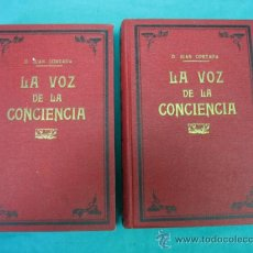 Libros antiguos: 2 TOMOS LA VOZ DE LA CONSIENCIA POR D. JUAN CORTADA. Lote 36450415