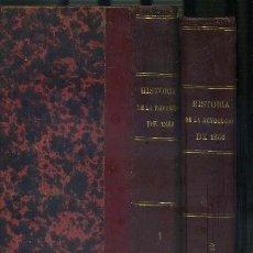 Libros antiguos: HISTORIA FILOSÓFICA DE LA REVOLUCIÓN ESPAÑOLA DE 1868 (2 TOMOS) VITRINA SJ (A-REVO-073). Lote 36457466