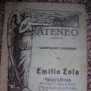 Libros antiguos: EMILIO ZOLA, POR LEOPOLDO LUGONES - REVISTA EL ATENEO Nº 1 - ARGENTINA - 1920 - INCUNABLE!!. Lote 36493726