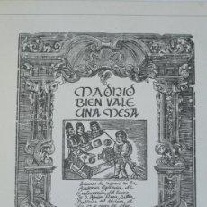 Libros antiguos: MADRID MAS VALE UNA MESA ADRIAN PIERA. Lote 36647783