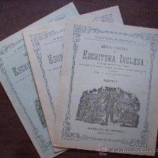Libros antiguos: 3 EJEMPLARES DE METODO PRACTICO DE ESCRITURA INGLESA - Nº 3 4 5 - SIN USAR - SUCESORES DE HERNANDO. Lote 36899375