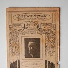 "Libros antiguos: BIBLIOTECA D'AUOTRS CATALANS. EDUART GIRBAL JAUME ""POESIES"" . Lote 36901254"