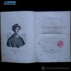 Libros antiguos: PCBROS - LA DIVINA COMEDIA - DANTE ALIGHIERI - 1870 - TRADUC. D. PEDRO PUIGBÓ. Lote 36919499