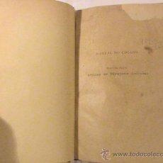 Livros antigos: MANUAL DO COLONO (AUTOR: ALFREDO DE LEAO PIMENTEL). Lote 37540111