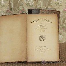 Libros antiguos: 3077- JOCHS FLORALS DE BARCELONA. IMP. LA REINAXENSA. 2 TOMOS. 1882-85 Y 1909-11.. Lote 36999502