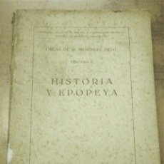 Libros antiguos: HISTORIA Y EPOPEYA (MENÉNDEZ PIDAL 1934) SIN USAR. Lote 37011863