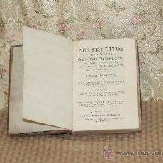 Libros antiguos: 3092- LOS ERUDITOS A LA VIOLETA O CURSO COMPLETO... JOSEF VAZQUEZ. EDIT. VIUDA PIFERRER. 1786. . Lote 37031737