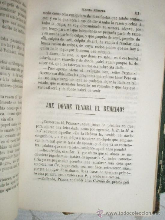 Libros antiguos: LAFUENTE. Modesto: Fr. Gerundio. Revista Europea. (1848-1849) - Foto 8 - 37172572