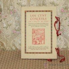 Libros antiguos: 3147. LOS CENT CONÇEILS DEL CONÇEYL DE CENT. FRA FELIU PIU. LIB. VEYL JOHAN LLORDACH. S/F. Lote 37214840
