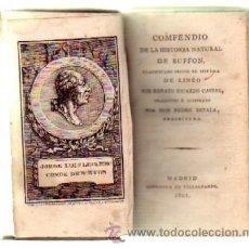 Libros antiguos: COMPENDIO DE LA HISTORIA NATURAL DE BUFFON. TEORICA DE LA TIERRA Y EPOCAS DE LA NATURALEZA (2 TOMOS). Lote 37250892