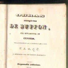 Libros antiguos: OBRAS COMPLETAS DE BUFFON. TOMOS XLVI + XLVII. 2 TOMOS EN UN VOLUMEN. HISTORIA DE LAS AVES. Lote 37336028