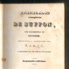 Libros antiguos: OBRAS COMPLETAS DE BUFFON. TOMOS VII + VIII. 2 TOMOS EN UN VOLUMEN. ÉPOCAS DE LA NATURALEZA. Lote 37336199