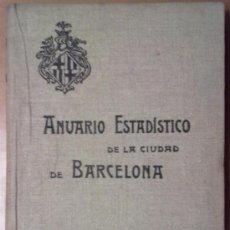 Libros antiguos: ANUARIO ESTADISTICO DE BARCELONA 1908. AÑO VII. Lote 37408918