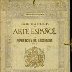 Libros antiguos: DIPUTACION DE BARCELONA I - CARPETA DE 50 LÁMINAS (LAPLANA, 1924). Lote 37417528