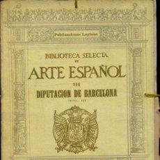 Libros antiguos: DIPUTACION DE BARCELONA II - CARPETA DE 50 LÁMINAS (LAPLANA, 1924). Lote 37417537
