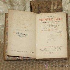 Libros antiguos: 3308- CURSUS SCRIPTURAE SACRAE. FRANCISCI XAVERI. IMP. ALBANEL. 1870. 2 TOMOS.. Lote 37485912