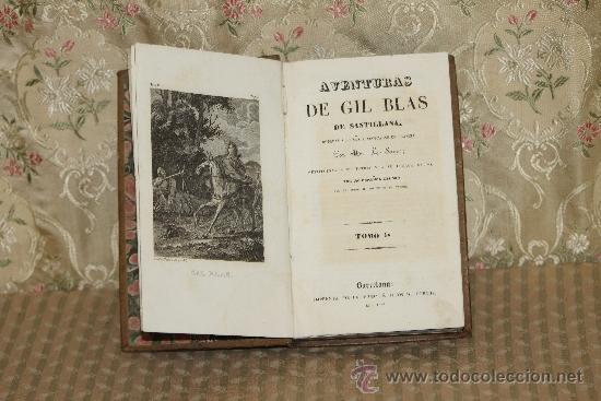 3315- AVENTURAS DE GIL BLAS DE SANTILLANA. LE SAGE. IMP GORCHS. 1836. TOMO I. (Libros antiguos (hasta 1936), raros y curiosos - Literatura - Narrativa - Otros)