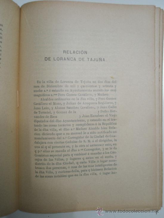 Libros antiguos: Catalina,J. y Pérez Villamil, M.: Relaciones Topográficas de España: Guadalajara IV - Foto 4 - 37614173