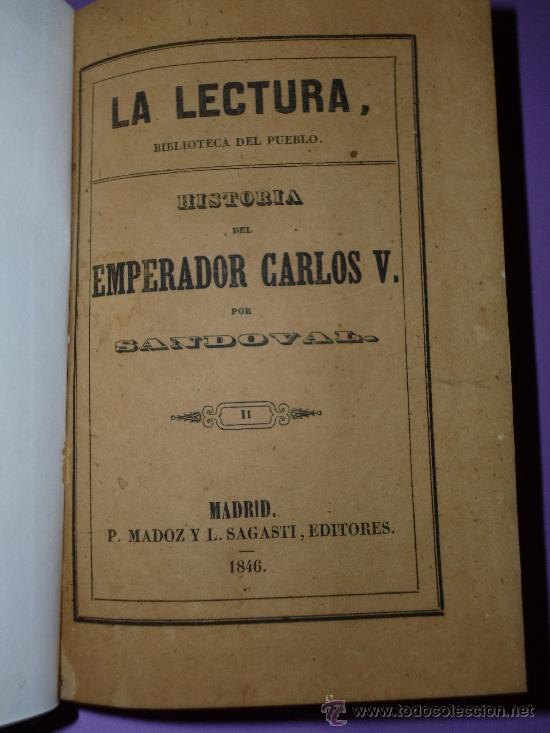 Libros antiguos: HISTORIA DEL EMPERADOR CARLOS V. TOMO II. (1846) - Foto 2 - 37389698