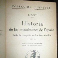 """Libros antiguos: DOZY, R. Y THIERRY,A.: OBRAS HISTÓRICAS (""""HISTORIA DE LOS MUSULMANES DE ESPAÑA HASTA LA CONQUISTA DE. Lote 37596134"""