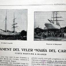 Libros antiguos: CATALUNYA MARITIMA. Nº 15 , 30 DE JUNY DE 1919. Lote 37619617