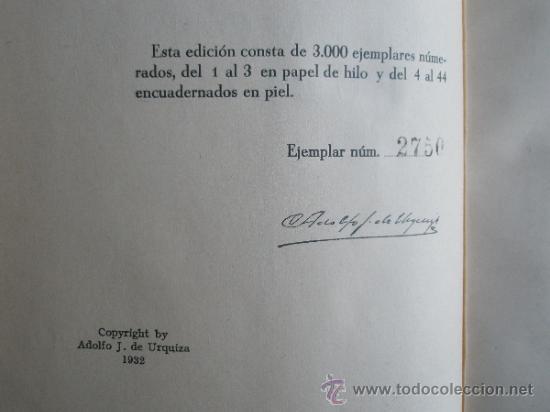 Libros antiguos: Urquiza, Adolfo J. de: Ceremonial Público (1932) - Foto 3 - 37731376