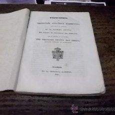 Libros antiguos: 618.- PRINCIPIOS DE GEOMETRIA ANALITICA ELEMENTAL-IMPRENTA NACIONAL 1840. Lote 37779075