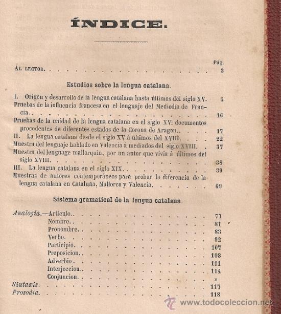 Libros antiguos: Estudios sistema gramatical y crestomatia de la lengua catalana / A. Bofarull. BCN: Plus Ultra, 1864 - Foto 2 - 37969487