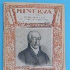 Libros antiguos: MINERVA. VOLUM III. GERMÀ I GERMANA. COMEDIA EN UN ACTE. J. W. GOETHE, 1918.. Lote 38007606