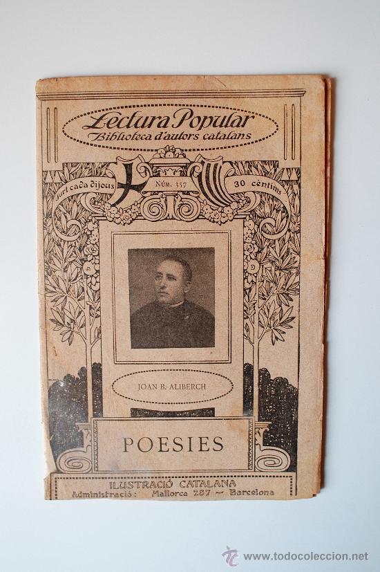 """BIBLIOTECA D'ESCRIPTORS CATALANS """"POESIES"""" DE JOAN B. ALBERICH (Libros Antiguos, Raros y Curiosos - Otros Idiomas)"""