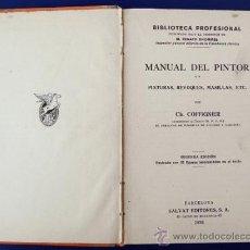 Libros antiguos: MANUAL DEL PINTOR. PINTURAS, REVOQUES, MASILLAS, ETC. POR CH. COFFIGNIER. Lote 38131256