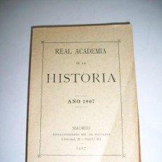 Libros antiguos: REAL ACADEMIA DE LA HISTORIA. [ANUARIO] : AÑO 1907. Lote 38167517