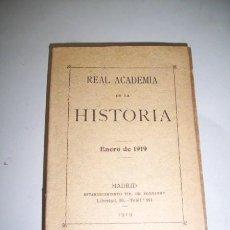 Libros antiguos: REAL ACADEMIA DE LA HISTORIA. [ANUARIO] : ENERO DE 1919. Lote 38167544