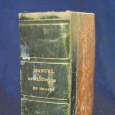 Libros antiguos: MANUEL DES ÉTUDIANS EN DROIT, M. DUPIN. Lote 38337829