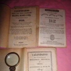 Libros antiguos: CALENDARIO PARA LAS ISLAS MALLORCA,MENORCA E IBIZA - AÑOS 1819-1842-1850.MUY RAROS.. Lote 38343014