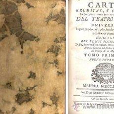 Libros antiguos: CARTAS ERUDITAS, Y CURIOSAS – FEIJOÓ – AÑO 1777. Lote 38358857