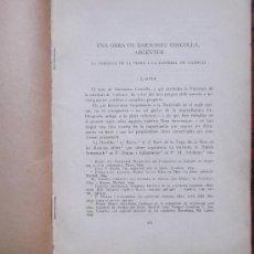 Libros antiguos: LA VERONICA DE LA VERGE A LA CATEDRAL DE VALÈNCIA OBRA D'EN BARTOMEU COSCOLLA. Lote 38391230