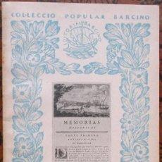 Libros antiguos: L'ANTIGA MARINA DE BARCELONA PER ANTONI DE CAPMANY. Lote 38409955