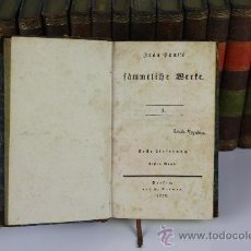 Libros antiguos: 5908 - FAMMTLICHE BERTE. JEAN BAUL'S. EDIT. REIMER. 1826/1828. 18 TOMOS.. Lote 38454796