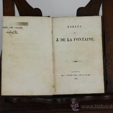 Libros antiguos: 5892 - FABLES. LA FONTAINE. EDIT. TAUCHNITZ JEUNE. 1845.. Lote 38457417