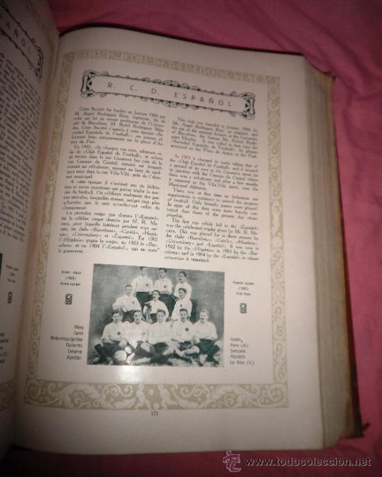 Libros antiguos: LLIBRE D´OR DEL FUTBOL CATALA - AÑO 1928 - RIBAS BANCELLS - ILUSTRADO CON FOTOGRAFIAS DE EPOCA. - Foto 7 - 38537188